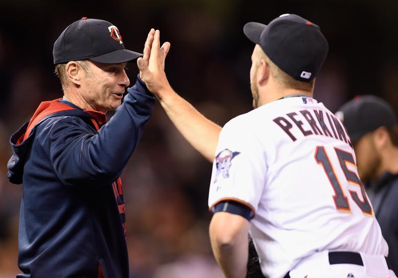 Glen Perkins and Paul Molitor Twins